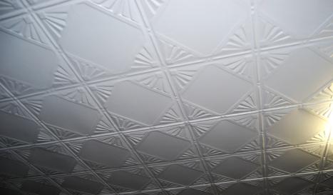 Treasure - art deco tin ceiling in kitchen