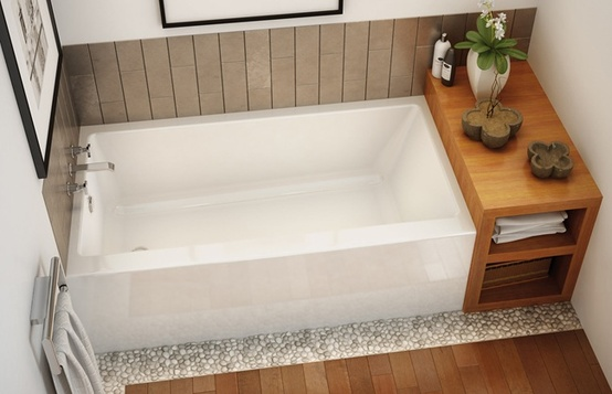 This is the tub we ordered.  Although it is acrylic, we like the square modern look.