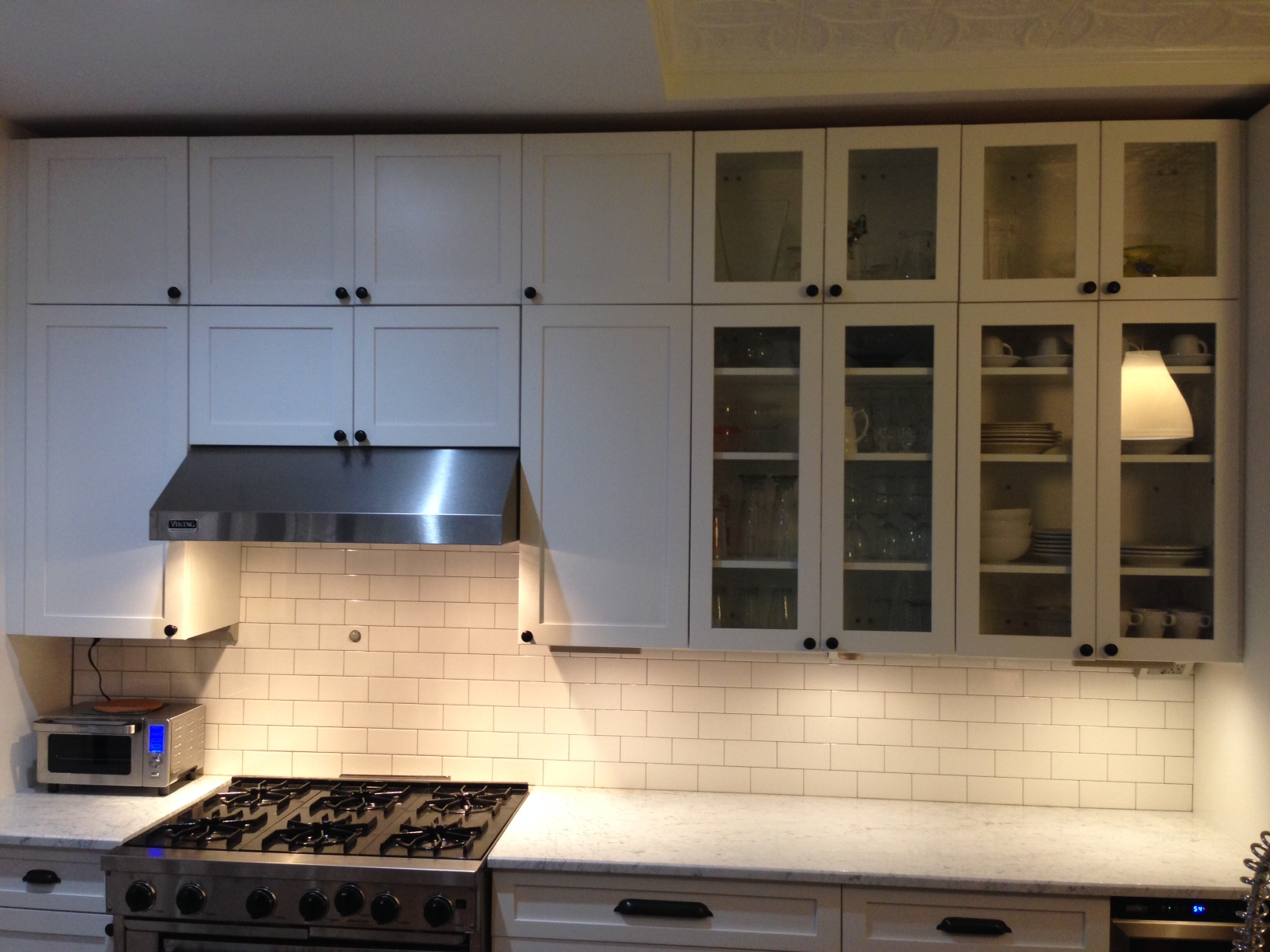 Superb Backsplash. Under Cabinet Lighting And Outlets