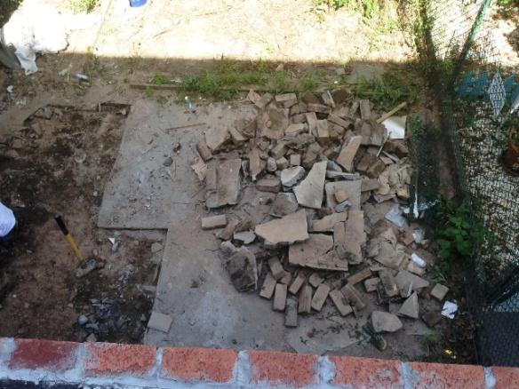 removing existing slab